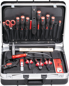 VALISE NOIRE ABS 19 OUTILS
